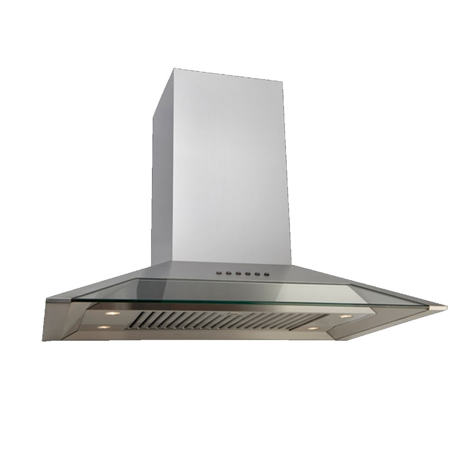 Euro 90cm Stainless Steel with front Glass Canopy Rangehood Model: E900GCSX