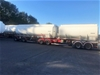 2006 Omega B Double Aluminium Tanker Trailer Set