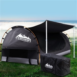 Weisshorn Double Swag Camping Canvas Dom