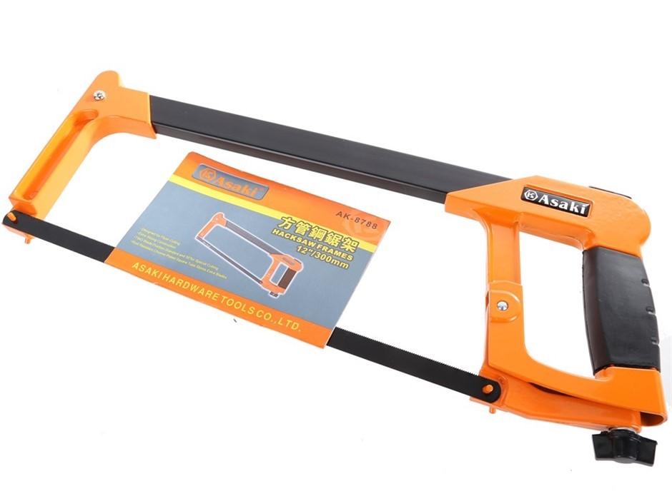 2 x ASAKI 300mm Heavy Duty Metal Frame Hacksaw. Buyers Note - Discount Frei