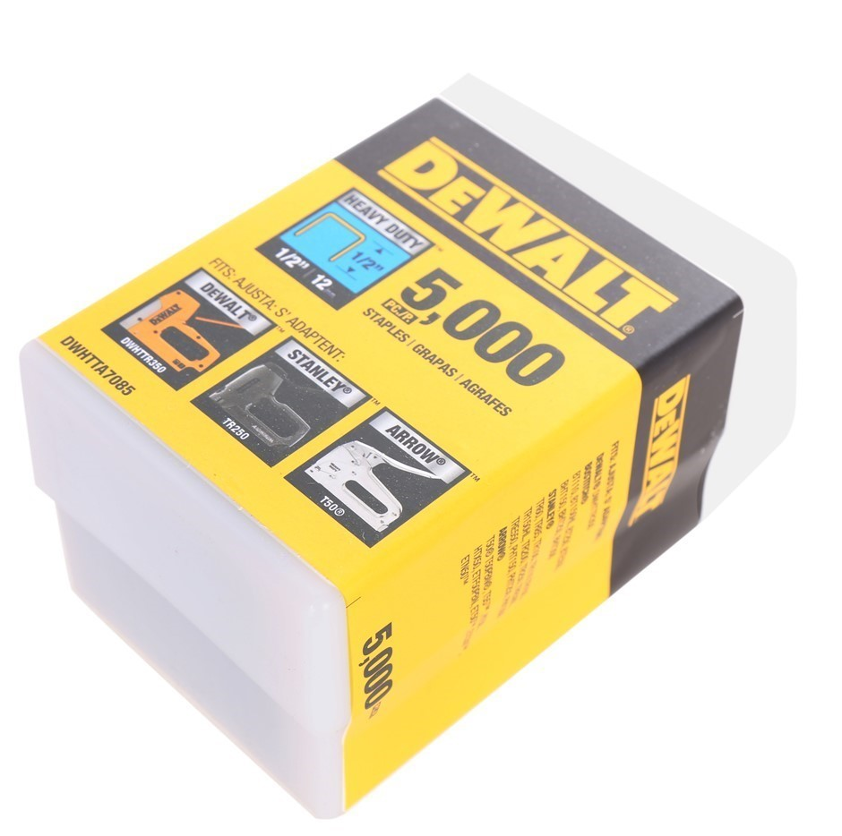 Pack of 5,000 x DeWALT Heavy Duty Staples 12mm. Buyers Note - Discount Frei