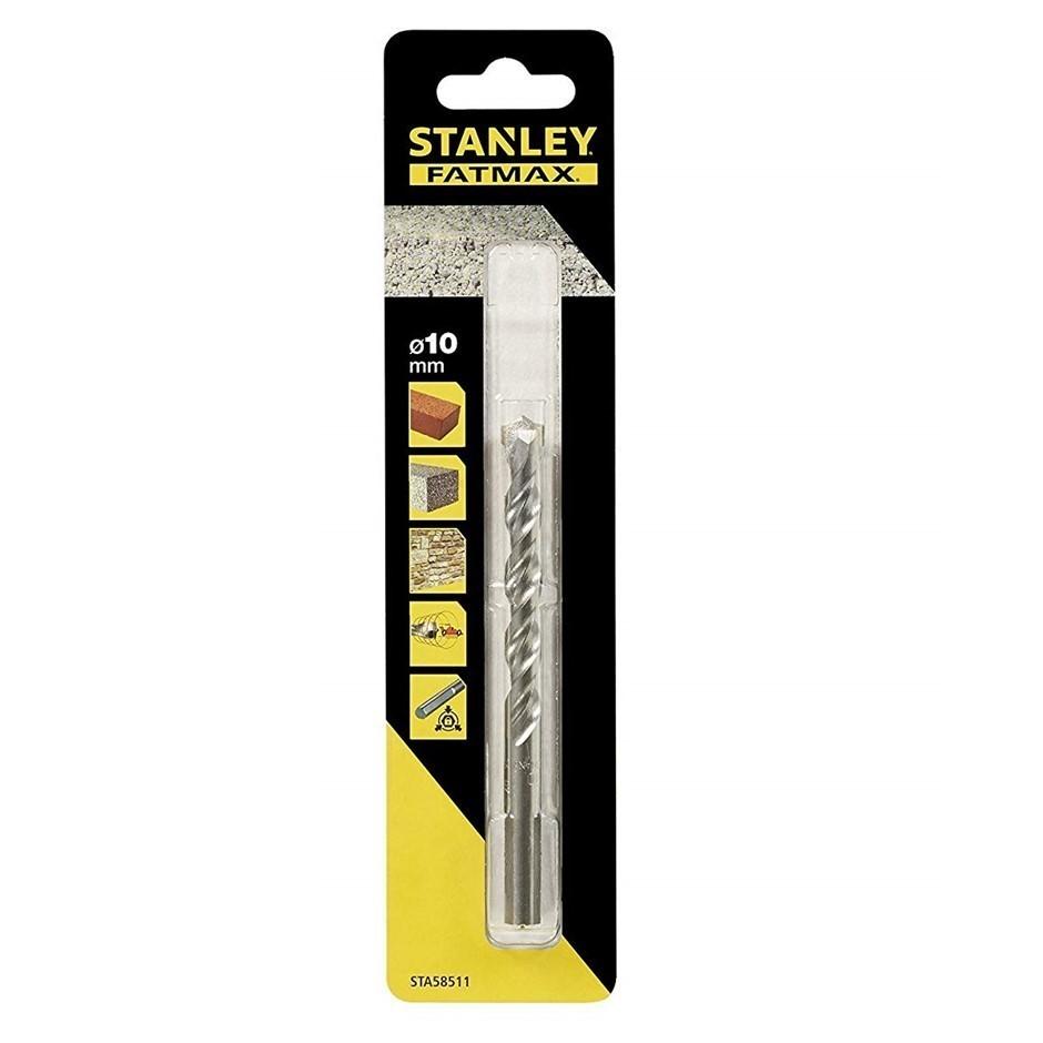 10 x STANLEY Straight Shank Masonry Drill Bits 10mm x 120mm. Buyers Note -
