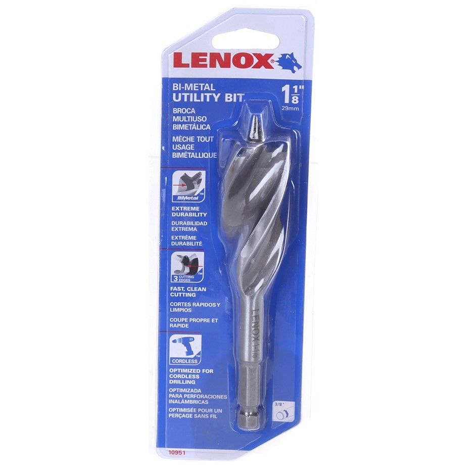 LENOX Bi-Metal Utility Bit 29mm 1-1/8``. Buyers Note - Discount Freight Rat