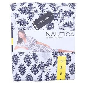 NAUTICA Women`s 2pc Button-Front Capri S