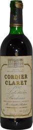 Cordier Labottiere Bordeaux Claret 1980 (1x 750mL), France. Cork.