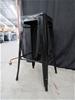 Qty 8 x Bolero Black Steel Bistro High Stools