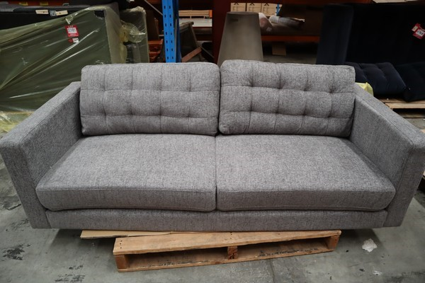 Regency 3 Seater Sofa Galaxy Dusk Timber Legs