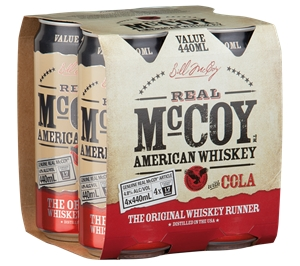 Real McCoy US Whiskey & Cola Can (24 x 4