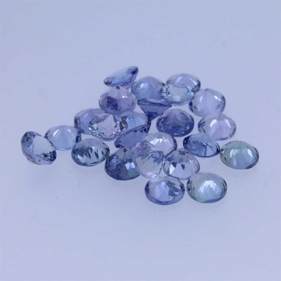 Twenty Four Loose Tanzanite, 11.50ct in Total