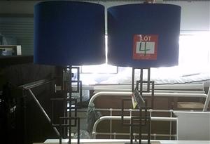 2 units of Royal blue/ black framed Lamp