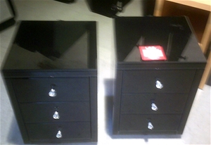 2 units of Black High Gloss Ultra Modern