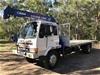 1986 Mitsubushi FM Chassis Cab 4x2 Crane Truck