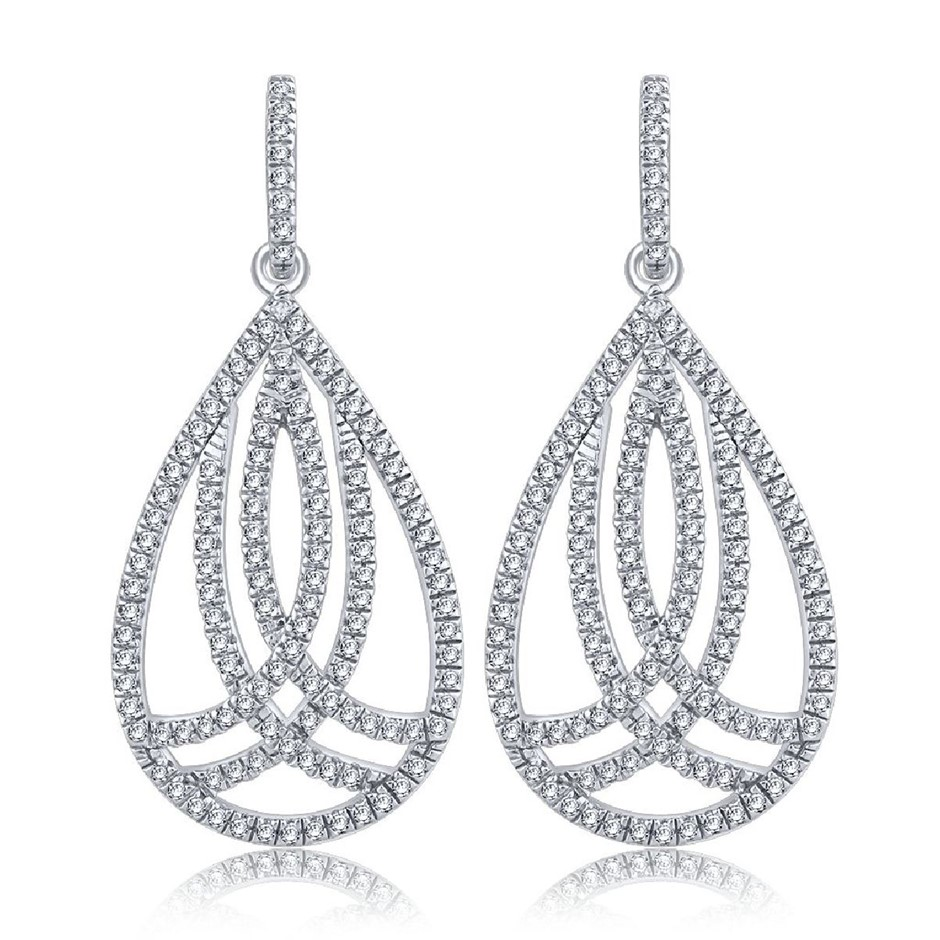 9ct White Gold, 0.52ct Diamond Earring