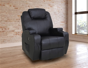 Black Massage Chair Recliner 360 Degree