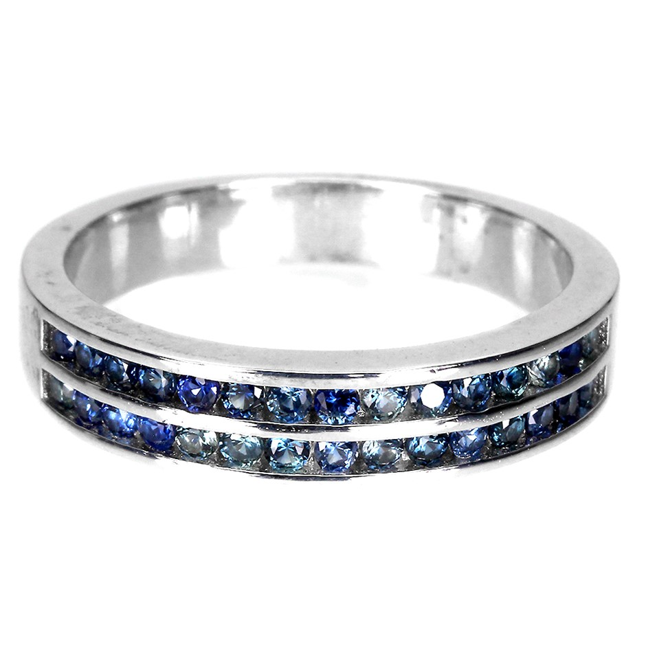 Divine Genuine Sapphire Eternity Ring Band