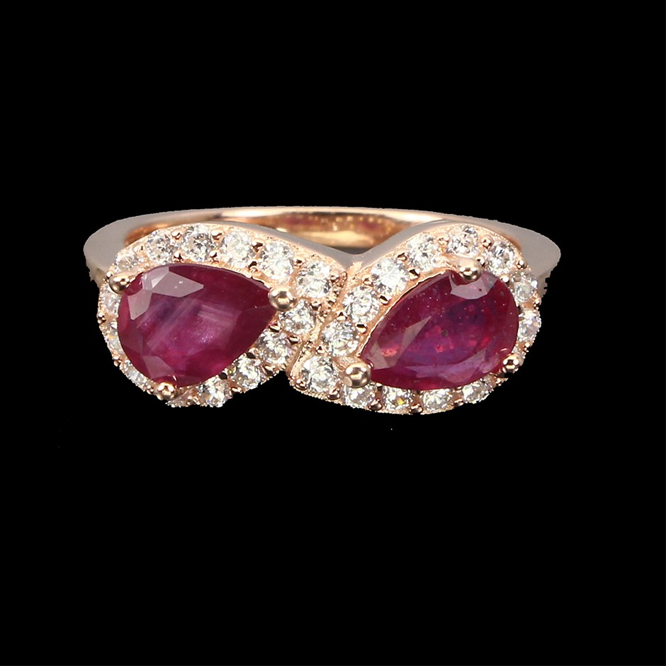 Gorgeous Genuine Ruby Ring