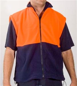 2 x FRONTIER Polar Fleece Vests, Size S,