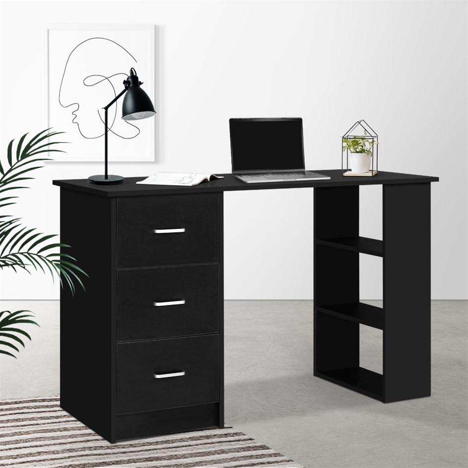 Artiss Office Computer Desk Study Table Workstation 3 Drawers 120cm Black