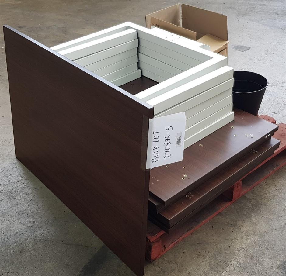 Qty 8 x Dark Woodgrain Timber Laminate Rectangular Table Top
