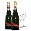 G.H.Mumm Cordon Rouge Brut NV (2x 750mL) + Glasses