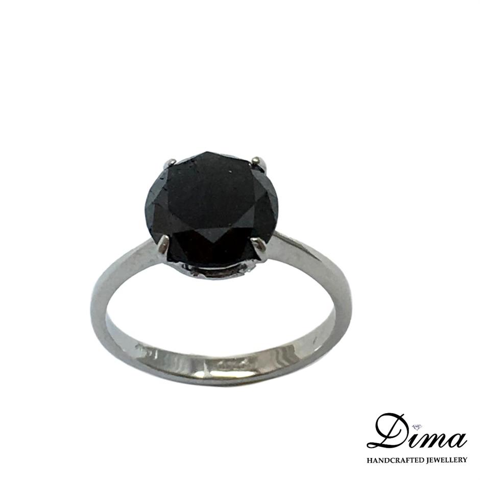 18ct White Gold, 3.60ct Diamond Ring