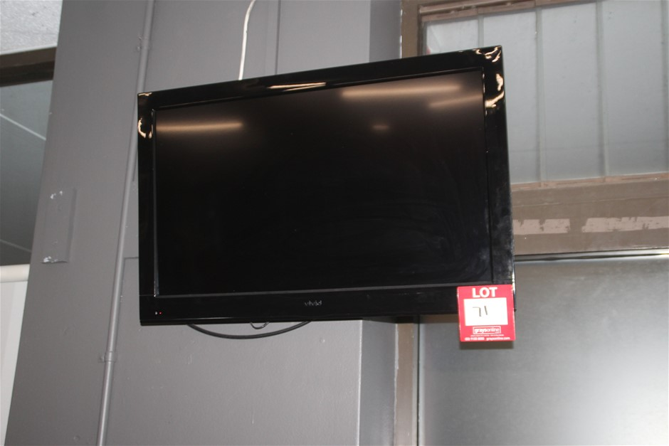 """Vivid 32"""" LED TV with Wall Mount & Remote"""