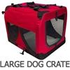 i.Pet Large Portable Soft Pet Carrier- Red