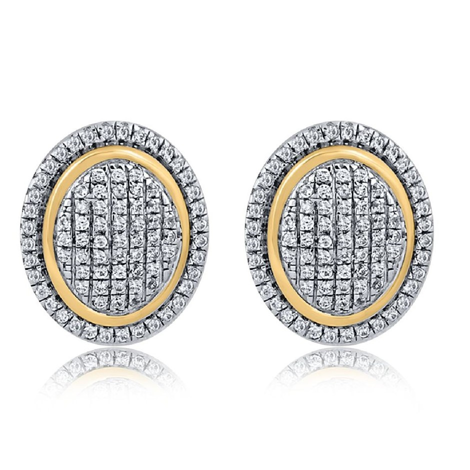 9ct Yellow Gold, 0.22ct Diamond Earring