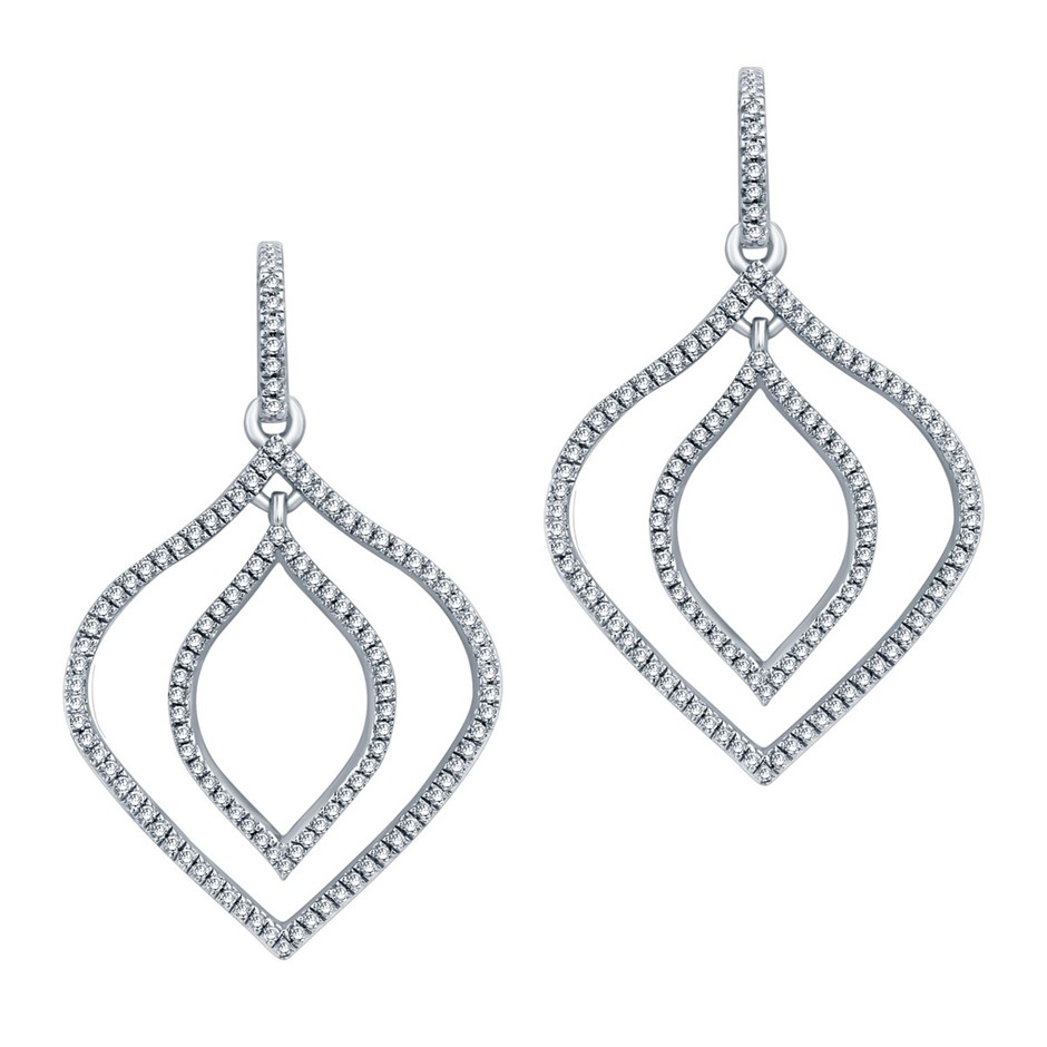9ct White Gold, 0.32ct Diamond Earring