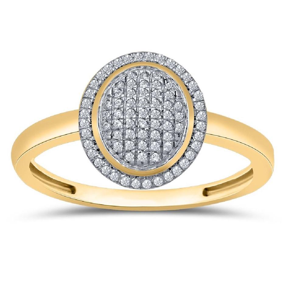 9ct Yellow Gold, 0.12ct Diamond Ring