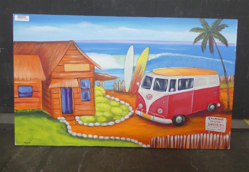 Sugix Sugix Beach House Painting On Canvas, 100 X 60Cm (Sugix)