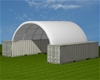 2020 Unused Extra Heavy Duty 40ft Container shelter