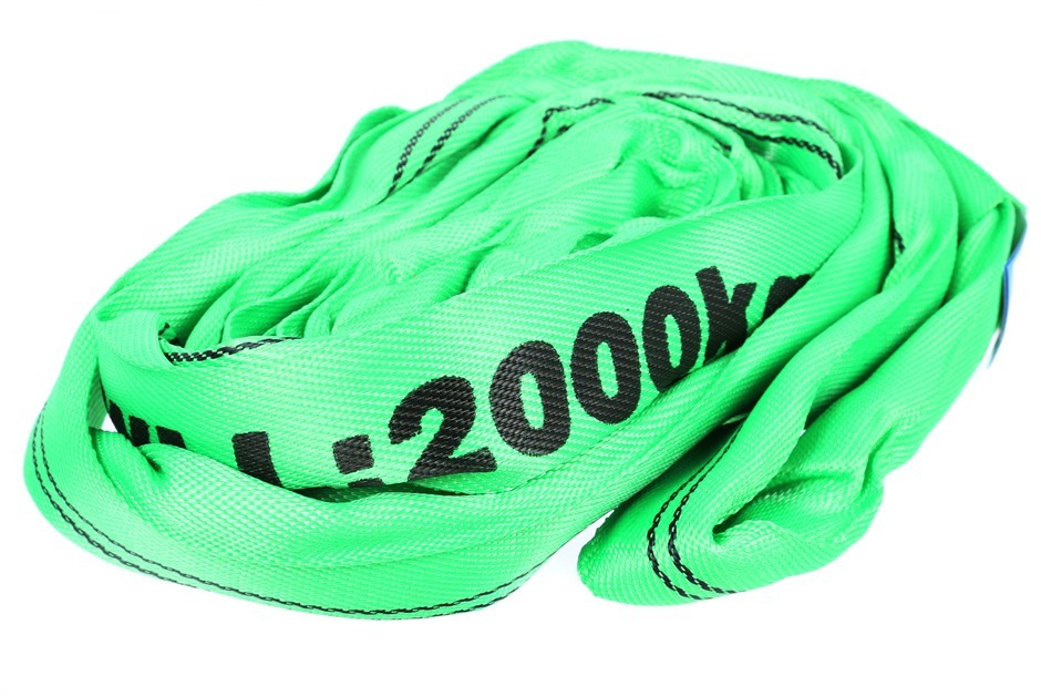2 x Round Lifting Slings, WLL 2000kg x 2.5M (With Test Cert). Buyers Note -