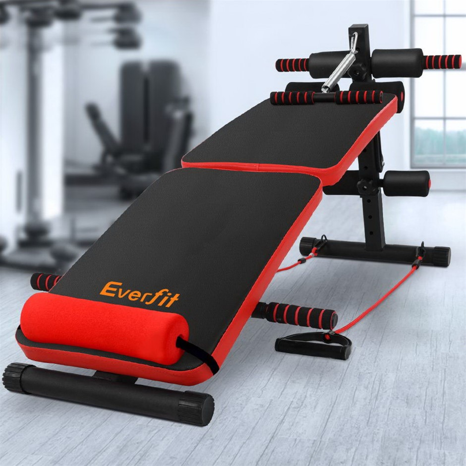 Everfit Adjustable Sit Up Bench Press Weight Gym Home Exercise Fitness
