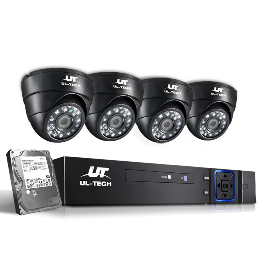 ULtech CCTV Security Home Camera System DVR 1080P Day Night 2MP IP 4 1TB