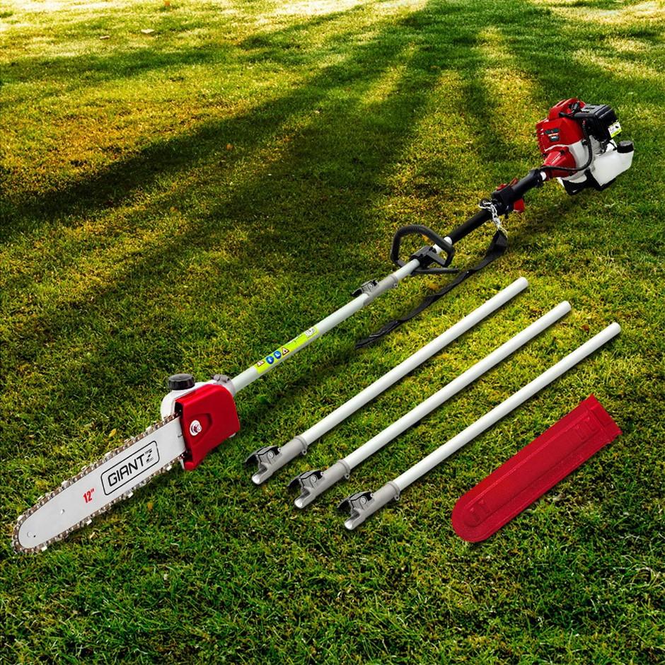 Giantz Pole Chainsaw 62CC Petrol Chain Saw Brush Cutter Brushcutter Tree