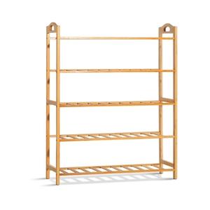 Artiss 5-Tier Bamboo Shoe Rack Organiser
