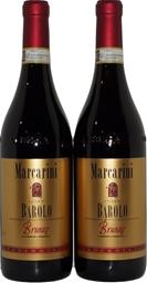 Poderi Marcarini Brunate Barolo Nebbiolo 2013 (2x 750mL), Italia. Cork