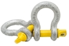 5 x Bow Shackles, WLL 2T, Screw Pin Type, Grade S, Yellow Pin. Buyers Note