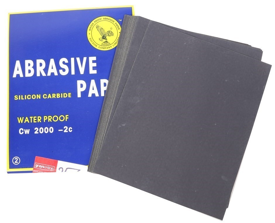 100 x Sheets Abrasive Paper, Water Proof Silicon Carbon Grit 2000 Sheet Siz