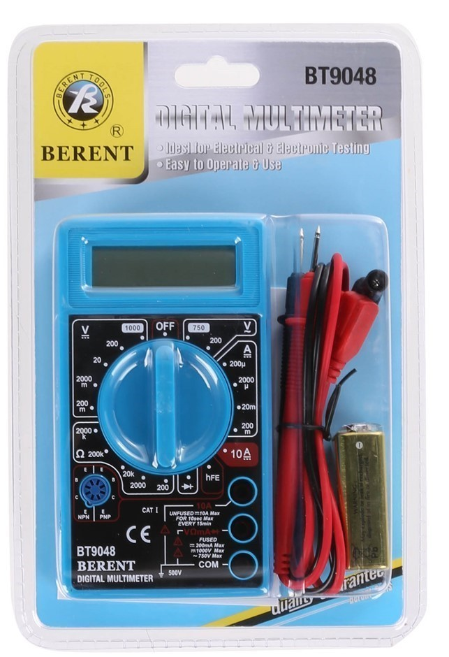 BERENT Digital Multi-Meter. Buyers Note - Discount Freight Rates Apply to A