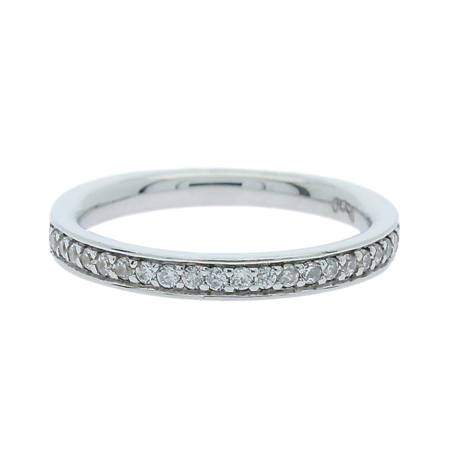0.25 Carat sterling silver matching band