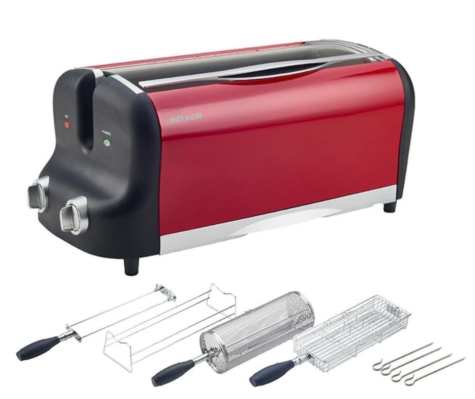 Heller 1100W 1.2L Air Fryer Cooker with Rotisserie Dishwasher Safe HAF1200