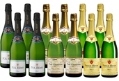 Mixed French Bubbles Pack (12x 750mL), France.