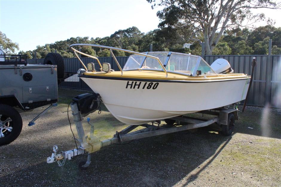 Stejcraft 4.9m 88hp Johnson Outboard Boat