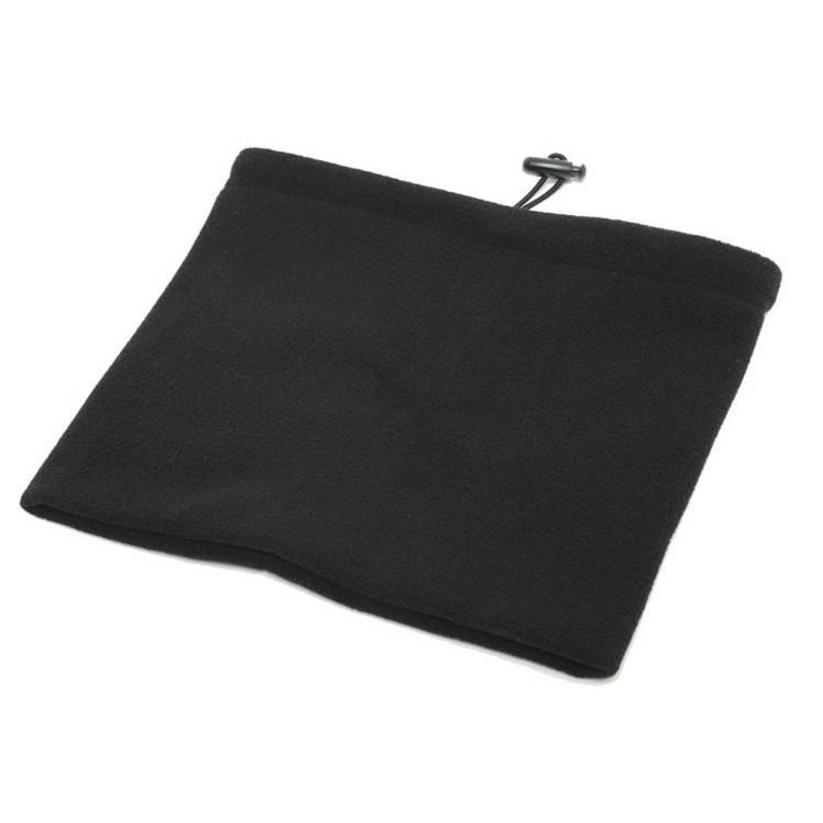 Fleece Thermal Neck Warmer Neck Gaiter Face Scarf-Black
