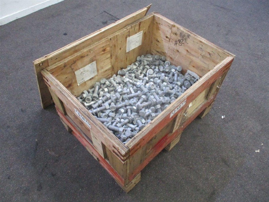 Crate Qty of Nuts, Bolts & Washers