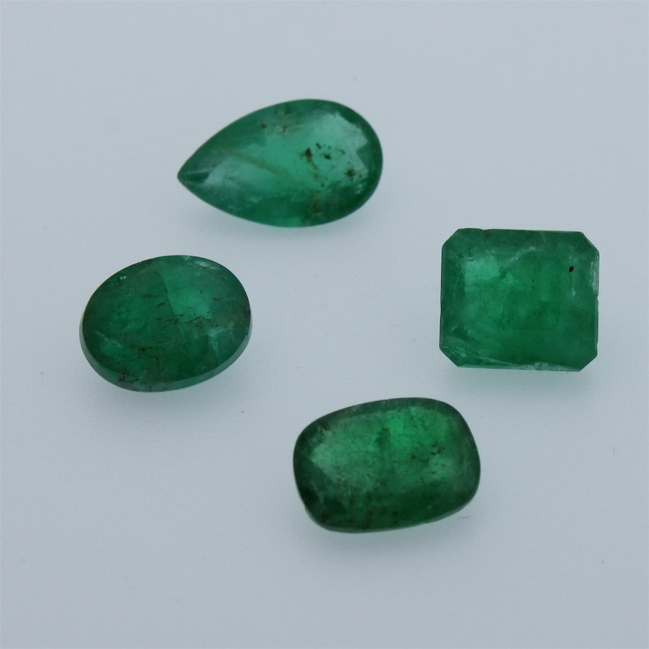 Four Loose Emerald 6.85ct in Total