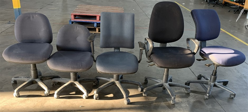 Qty 5 x Assorted Office Chairs