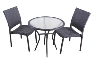 Pier Tempered Glass Round Dining Table And Chair Set 2 Seater Auction 0010